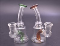 Factory price Glass Beaker Dab Rig Bong Heady Bongs 14mm joint Mini Water pipe Thick oil rigs wax smoking hookah dhl free