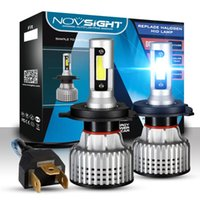 NOVSIGHT H7 H4 LED Luces de coches H1 H3 H11 3 4 5 9005 9006 12V Auto Conducir Faro de la lámpara 6500K Vehículo Kit bombillas de luz antiniebla
