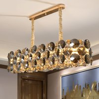 New arrival chandelier lighting for dining room  home decoration crystal lamps long kitchen island chain cristal light
