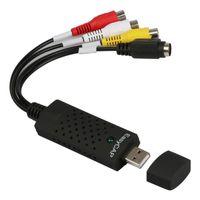 Vendita calda! USB 2.0 Audio VHS a DVD HDD Converter Easycap Card Adapter TV Video DVR Capture periferiche UP