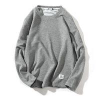Schwarz Herbst Lustige Langarm-Fitness-T-Shirts Männer O Ansatz Street loser T-Shirt Männer Hip Hop beiläufige Art und Weise T-Shirt Frühling