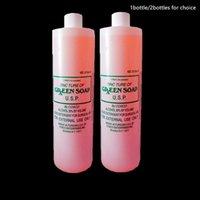 16 oz tatuaje verde jabón limpieza agua lavado de agua tatuaje suministros desinfectante líquido