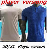 Spielerversion Fussball Jersey Home White Away Blue 20/21 Männer Fußball Hemden Kane Lingard Sterling Football Hemd Customized