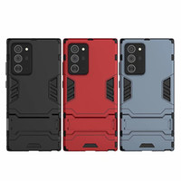 copertura ibrida KICKSTAND Anti Shock Defender Armatura TPU + PC per Samsung Galaxy Note 20 PLUS 160PCS / LOT