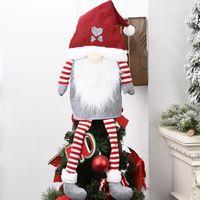 Christmas Tree Top Pendentif Père Noël Nain Doll Ornements Fête Fête de bricolage Décoration d'intérieur Enfants cadeau Décoration Props