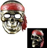 Piraten-Kapitän Horror-Party-Maske Retro Jazz Maske Antike Half Face Dekoration Männer Maske