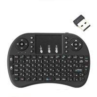 I8 2.4 جيجا هرتز لوحة المفاتيح اللاسلكية الماوس الهواء مع لوحة اللمس المحمولة العمل مع أندرويد التلفزيون مربع مصغرة الكمبيوتر 18