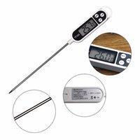 Digital termómetro del alimento largo sonda electrónica cocinar Termómetro para sopa de pastel de carne Fry barbacoa para la cocina Accesorios CYZ2787 600Pcs