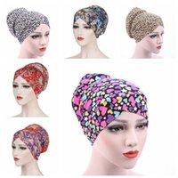 Musulman Turban femmes imprimé léopard Foulard Floral Headwrap Chemo Chapeau Mode Hijab Cap Sommeil Accessoires Beanies cheveux DHB1306