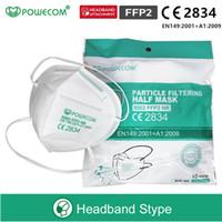 شحن مجاني دي إتش إل! قناع POWECOM FFP2، أقنعة الوجه FFP2 NR FIFFLE FIFE مع شهادة CE الصادرة عن CCQS، أفضل من قناع KN95