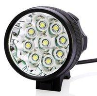 9T6 phare Headlamp Bike Light / 9 * T6 3 Modes 14000LM avant vélo léger Super Power 9T6 avec chargeur batterie