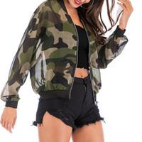 Damen Jacke Frühling Herbst Frau Mantel-beiläufige Tarnung Jacke Sun-Schutz Outwear für Camping Wandern Female Tops
