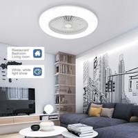 JML ventilateurs de plafond avec éclairage LED lumière réglable Vitesse du vent dimmerable avec télécommande 36W moderne plafonnier de LED pour la vie Chambre