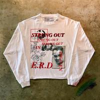 Streetwear Gevşek Uzun Kollu T-Shirt Erkekler Kadınlar 1 En iyi kalite Top Tee Retro Tişörtlü