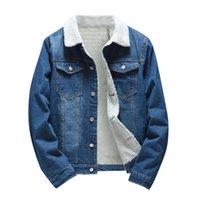 KANCOOLD Men Jacket And Coat Trendy Warm Fleece Denim Jacket 2020 Winter Fashion Mens Jean Outwear Male Cowboy Plus Size