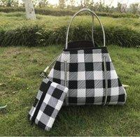 Неопрен Baseball Bag подсолнечника Сумка Женщина красной белой плед Сумку для покупок с небольшим Кошельком Рождества хранения сумкой морских GGA3730