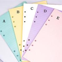 5 ألوان A6 فضفاض ورقة ورقة المنتج ملء الملء دوامة الموثق مؤشر الحشو الصفحات الداخلية الصفحات اليومية مخطط القرطاسية