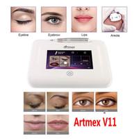 Professionelle dauerhafte Make-up-Tattoo-Maschine Artmex V11 Augenstirnlippen Microblading Derma Stift Micreample Hautpflege MTS PMU DHL