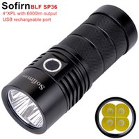 Sofirn BLF SP36 4 * XPL2 6000LM poderosa lanterna LED USB recarregável 18650 Operação múltipla Super Bright Torch Narsilm V1.2 Y200727