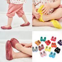 Новорожденные Детские носки обувь для малышей Девушки Твердые Мягкие Подошва резиновая обувь Носки Трусы чулок для детей Мягкие противоскользящим 6М-6Y
