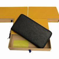 Borsa per portafogli per portafogli in pelle da donna in cuoio in pelle da donna Borse frizioni Pochette multi carta Zipper card bag portamonete M60171