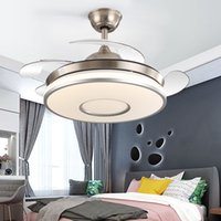 Individuality LED Frequency Invisible Ceiling Fan Lamp Dining Room High Quality Luxury Quiet Remote Control Ceiling Fan Light