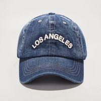 Bahar Yeni Denim Beyzbol Kapaklar Los Angeles Retro Baseballcaps Unisex Rahat Nakış Şapka DHL tarafından Ücretsiz Kargo