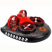Мини беспилотный ховеркрафт четыре оси самолета на воздушной подушке планера воды земли и воздуха 3 в 1 детской игрушке
