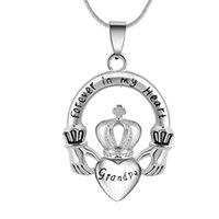Forever en mi corazón Crown Heart Ash Urn Memorial Colgante Collar Joyería de cremación