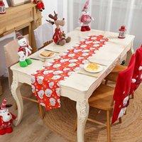 Weihnachtsschmuck Santa Claus Dekoration Tischläufer Tischsat Tischdecke Matte Hochzeit Weihnachtsjahr Party Bankett Wohnkultur 63129