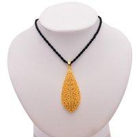 24K Капля воды эфиопского кулона ожерелье цвета золота для Людей Женщин Свадьбы цепи невесты ювелирных изделий Ближнего Восток African невесте подарки