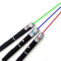 15см Большой мощный зеленый синий фиолетовый красный лазерный указатель Pen Stylus Луч света Свет 5mW Профессиональные высокой мощности лазера 532nm 650nm 405nm