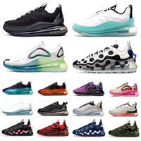 720 ISPA 720-818 Hommes Femmes Chaussures De Course Triple Noir Blanc Magma Summit Blanc Bubble Pack 720s Formateurs Baskets De Créateurs De Sport Pour Hommes