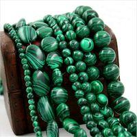 Другие круглые свободные разные бусины натуральный малахит камень для ювелирных изделий изготовления браслета ожерелье DIY оптом 4 6 8 10 мм