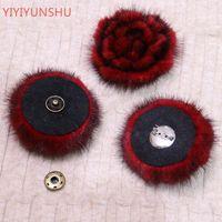 Reali Pompon sfera del fiore per i cappelli Scarpe Borse Accessori reale genuina pelliccia Pompom fiore della pelliccia pompon per cappelli Berretti