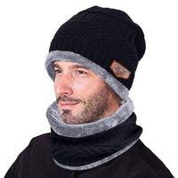 Casquillo hecho punto unisex JAYCOSIN manera de los hombres caliente del sombrero del invierno de la bufanda suave de punto sombrero de la bufanda 2 Piezas Skullies Beanie Invierno Para
