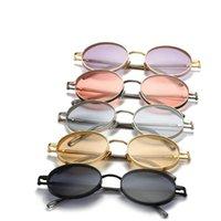 2020 MINCL Küçük Boy Oval Güneş Erkekler Vintage Güneş Gözlükleri Klasik Retro Metal Çerçeve hip hop Kadınlar Punk NX gözlük güneş gözlüğü