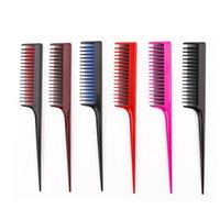 Resalte dos colores de salón peines tinte de pelo peine Separar Peines cola de despedida para peinado de peluquería antiestático Pin