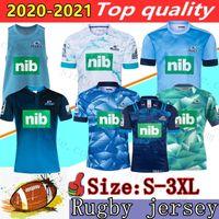 Mens 2020 Blues Super Rugby Jersey Treinando Jerseys National Rugby Liga Liga Camisas Tamanho S-3XL Camisas Zelândia Blues Performance Tee