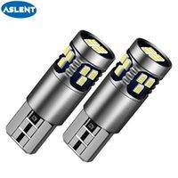 ASLENT 2PCS T10 W5W 194 168 LED لمبات 3030 2SMD اكسسوارات السيارات التخليص أضواء القراءة مصباح السيارات الخفيفة 12V أبيض أحمر أصفر