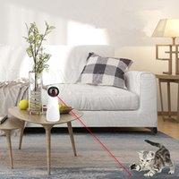 Laser infravermelho rotativo automático engraçado do cão de estimação do cão do cão infravermelho do laser de quatro velocidades Modo de giro de quatro velocidades Laser distância ajustável gato brinquedos RRA3587