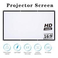 """Projeksiyon Ekranları 16: 9 Full HD Projektör Ekran Ev Sinema 60/72 84 100 120 150 """"Thuis Açık KTV Kantoor Draagbare Scherm"""