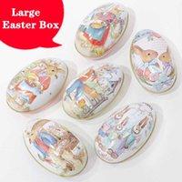 Hediye Paketi 10 adet Mutlu Paskalya Süslemeleri Ev Parti Masa Için Büyük Yumurta Kutusu Bebek Duş Çocuklar Metal