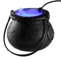 1 PC de la lámpara de Halloween bruja atomizador decoración de Halloween bruja helado olla máquina de la niebla iluminación de color cambiante atmósfera de niebla fabricante