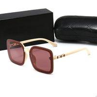 CHANEL CH 9132 2020 النظارات الجديدة عالية الجودة مصمم العلامة التجارية النسائية الفاخرة النظارات الشمسية النساء الشمس جولة النظارات الشمسية gafas دي سول موهير نظارة