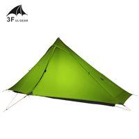 2020 3F UL GEAR Lanshan 1 pro Tent Oudoor 1 Person Ultralight Camping Tent 3 Season Professional 20D Silnylon Rodless