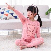 Invierno gilrs chico algodón ropa de noche de manga larga pijama pijama dibujos animados niños pijama conjuntos niños dormir niño pijamas