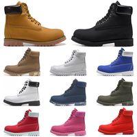 أزياء الرجال الأحذية مصمم رجل إمرأة أحذية جلدية أعلى جودة الكاحل الشتاء التمهيد ل كاوبوي الأصفر الأحمر الأزرق الأسود الوردي العمل التنزه 36-45