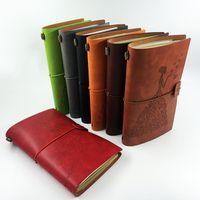 Notepades Ruiser à la main Vintage Cuir Journal Sketchbook Journal De Sketchbook Remarque Creative Papeterie Creative Pages vierges Notebook Notebook Recharge