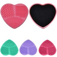 Silicone Makeup Brush Cleaners Portable Compact practical cosmetic Brush Cleaning Box Scrubber Cleaner Kit Dry wet Dual Use